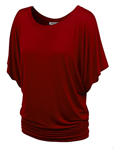 Womens Dolman (LL WT742 Womens Boat Neck Short Sleeve Dolman Drape Top XL)