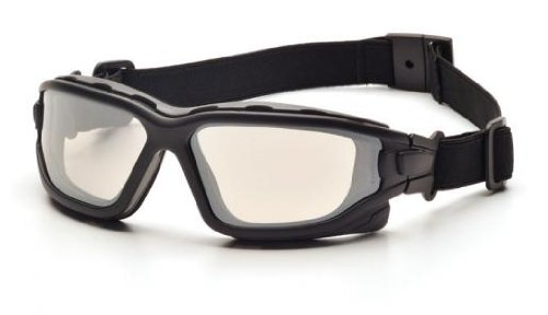 (12 Pair) Pyramex I-Force Glasses Black Strap-Temples/Indoor-Outdoor Mirror Anti-Fog Lens (SB7080SDT) by Pyramex Safety (Image #1)