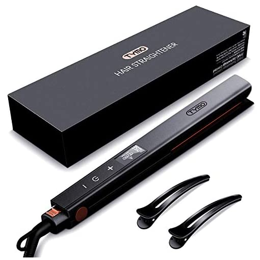 TYMO Hair Straightener - Titanium Flat Iron for Hair Straightening with LCD, 30s MCH Heating, 5 Heat Levels,Mini Hair Straightener with Daul Voltage for Travel, Salon, Suitable for All Hair Types - 41kud266J8L - TYMO Hair Straightener – Titanium Flat Iron for Hair Straightening with LCD, 15s MCH Heating, 16 Heat Levels,Mini Hair Straightener with Daul Voltage for Travel, Salon, Suitable for All Hair Types