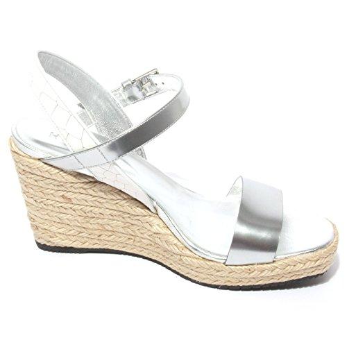 Argento Donna Sandal Bianco Zeppa Shoe Woman Hogan Sandalo Bianco B0712 Argento 0xqxzwEv