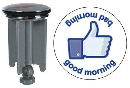 Waschbeckenstöpsel Waschbeckenstopfen Waschtischstöpsel (Good Morning Bad Morning)
