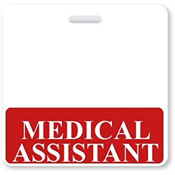 Amazon Medical Assistant Horizontal Badge Buddy With Red