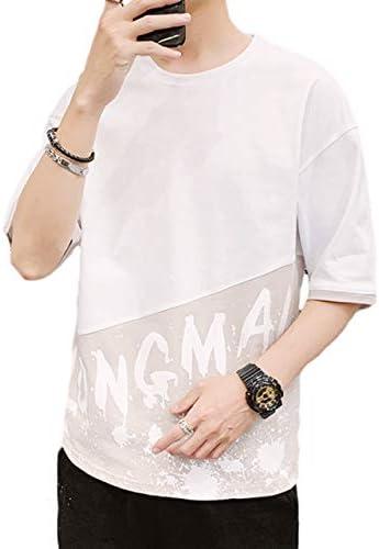 4色 ロゴTシャツ 半袖 ゆったり 韓国ファッション Uネック おしゃれ メンズ 春 夏 M~2XL