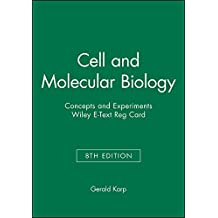 Cell and Molecular Biology: Concepts and Experiments, 8e Wiley E-Text Reg Card