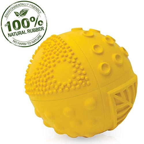 Pure Natural Rubber Sensory Ball (3) SUNSHINE - SEALED HOLE, All Natural Sensory Toy, Promotes Sensory Development, Bright Colors, Perfect Bouncer, BPA Free, PVC Free, Hole Free Sensory Ball for Baby