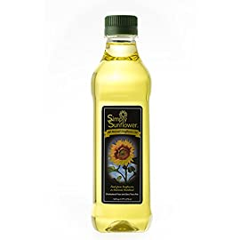 Simply Sunflower - All-Natural Sunflower Oil - Cooking Oil - 16 oz. Bottle 9 Simply Sunflower all-natural sunflower oil is a great alternative to traditional vegetable and canola oil for everyday cooking. This healthy oil is naturally high in vitamin E, it has a very high smoke temperature yet still maintains a light, distinctly nutty flavor found only in sunflowers. Sunflower oil is as great option for those who are health conscious.