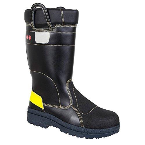 """Ejendals 4768–47taglia 47""""JALAS 4768Fire"""" stivali di sicurezza, colore: nero/giallo"""