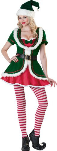 Womens Elf Costume (InCharacter Costumes Women's Holiday Honey Elf Costume Green/Red, Large)