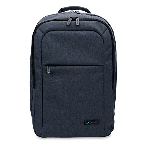 15 inch MacBook Pro Laptop CaseCrown Waltham Backpack (Denim Navy Blue) w/Padded Compartment