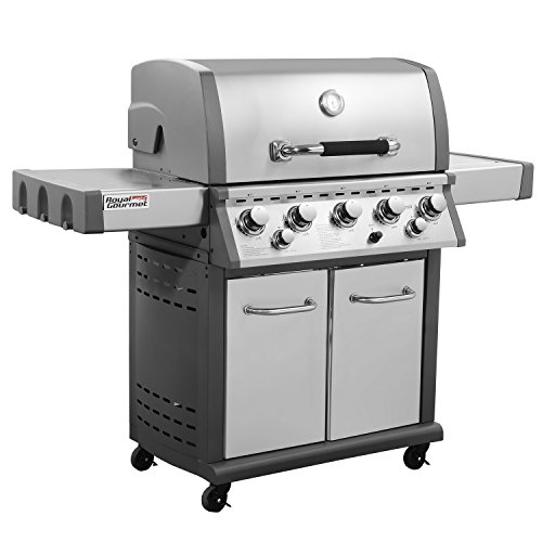 Royal Gourmet Mirage MG5001-R 5-Burner Propane Gas Grill with Infrared Burner, Stainless Steel Royal Gourmet Corp