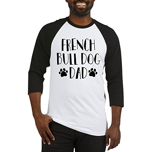 CafePress French Bulldog Dad - Cotton Baseball Jersey, 3/4 Raglan Sleeve Shirt