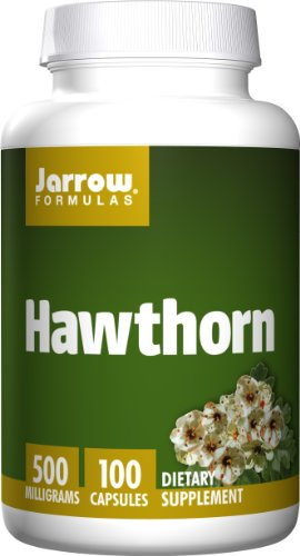 Jarrow Formulas Hawthorn, Promotes Healthy Circulation and Antioxidant Protection,  500mg, 100 (Hawthorn 100 Capsules)