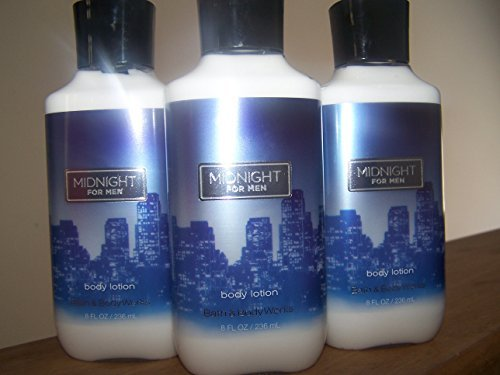 Lot of 3 Bath & Body Works Midnight for Men Body Lotion 8 Fl Oz Each (Midnight for Men) ()