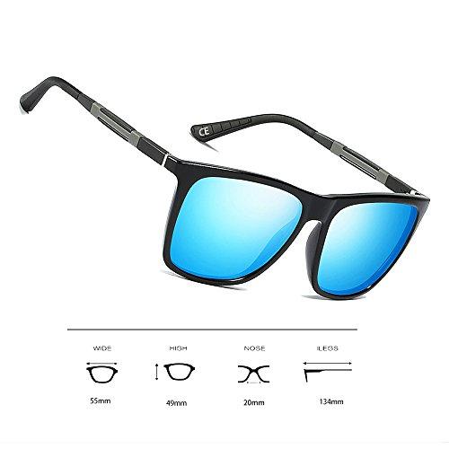 y Marco para Sol VeBrellen UV400 Black Blue Al Lens VS001 Metal de Mujer de Mg Polarizadas Frame Protección Gafas Hombres w4qqtA8Yn