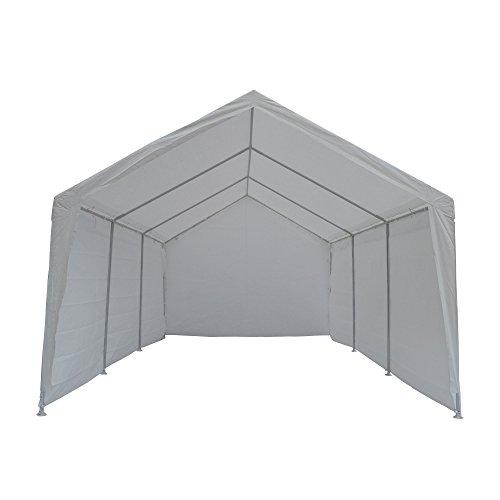 True Shelter 10' x 20' Car Canopy Gazebo Tent Cover 8 Legs Steel Frame Garage