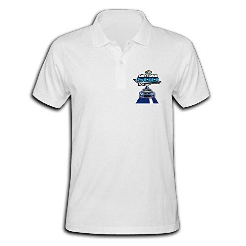 LZHEN Men's Polo Shirt Daytona 500 Logo White S (Men Watches For Hamlin)