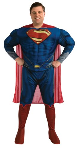 [Rubie's Costume Plus-Size Man Of Steel Deluxe Adult Superman Costume, Blue/Red, Plus] (Plus Size Deluxe Superman Costumes)