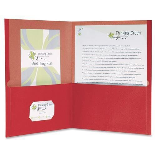 (Oxford 78511 100% Recycled Paper Twin Pocket Folders - Letter - 8.50