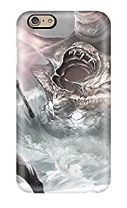 High Impact Dirt/shock Proof Case Cover For Iphone 6 (battle Between Monster And Warriors )
