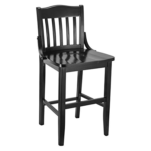 (Beechwood Mountain Schoolhouse Counter Stool in Black)
