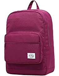 ALVIMAX Plain School Backpack Book Bag | 16.5x12x6 | Holds 15.6-inch Laptop