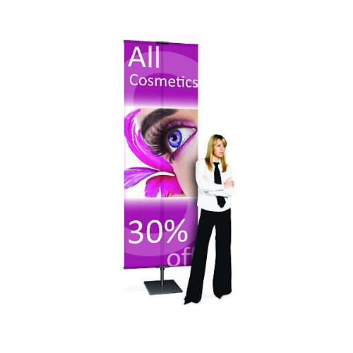 Adjustable Classic Banner Stand - Matte Black by KegWorks