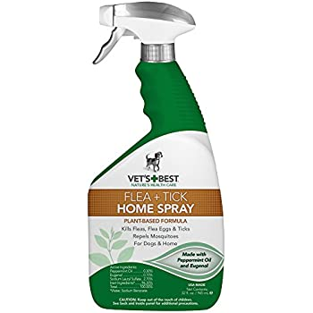 Vet's Best Natural Flea and Tick Home Spray, 32 oz, USA Made