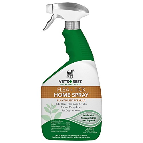 Vet's Best Flea and Tick Home Spray for Dogs and Home, USA Made (Flea Spray)