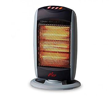 Takestop® estufas estufa eléctrica halógena 1200 W dos elementos Radiador Calefactor para casa oficina: Amazon.es: Electrónica
