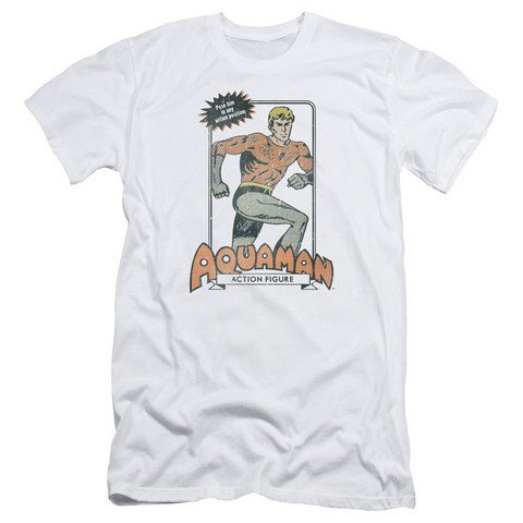 Trevco Dc-Am Action Figure - Short Sleeve Adult 30-1 Tee - White, Large