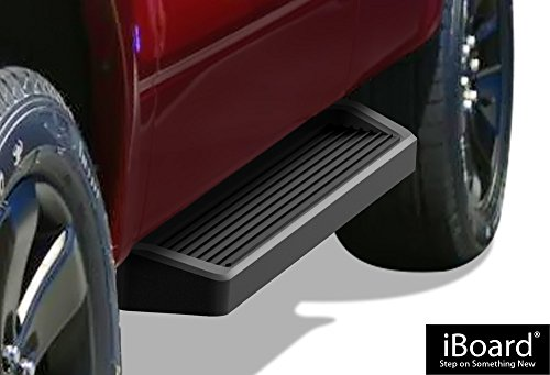 2020 Ford F350 Super Duty - APS iBoard Running Boards (Nerf Bars Side Steps Bars) Compatible with 2015-2020 Ford F150 Regular Cab Pickup 2-Door & 2017-2020 Ford F-250 F-350 Super Duty (Black Powder Coated Running Board Style)