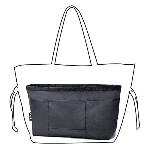 Insert Bag Organizer, Bag in Bag for Handbag Purse Organizer (Medium, Black) by favour (Image #1)