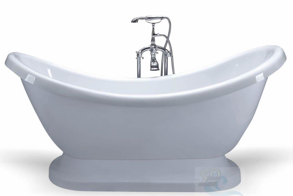 Victorian Style Pedestal Indoor Soaking Bathtub Tub with Floor ...