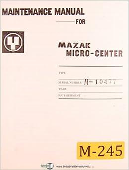 Mazak manuals pdf download