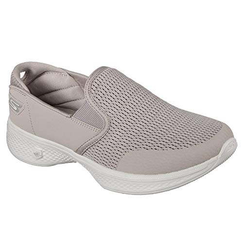 attuned Taupe Walk Donna Infilare Skechers Sneaker Go 4 qtg7g