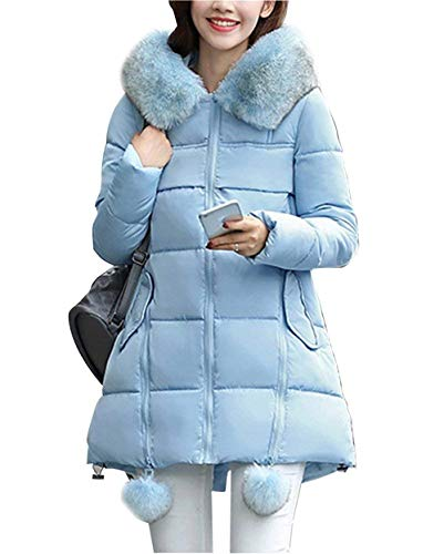 Blau Parka Quilting Elégante Fourrure De Fashion Épaissir Longues Capuchon Stepp Styles Young Qualité Avec Bonne Manches Femme Veste Warm Hiver Cheminée Blouson 4BTpxq1x