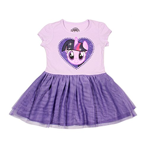 My Little Pony Girls' Twilight Sparkle Tulle Costume Dress, Lilac/Grape, L-6X