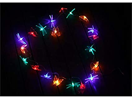 wetietir special butterfly dragonfly shape indoor outdoor decoration colour christmas lights color for christmas