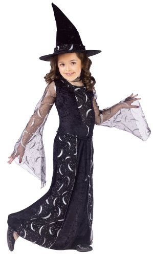 Spirit Girls' Celestial Sorceress Child Costume Black Small ()