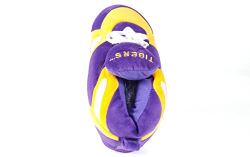 NCAA Slippers OFFICIALLY LICENSED and Feet Men's Tigers Sneaker College Happy Lsu Womens BqYOWF