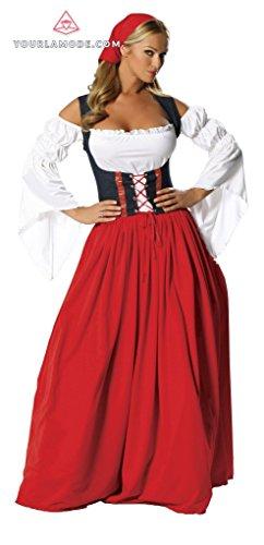 Roma Swiss Miss Costume (Roma Costume Swiss Miss Bundle with Pink Shorts)
