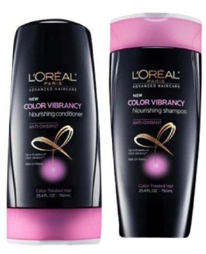 L'Oreal Advanced Haircare Color Vibrancy Nourishing Shampoo & Conditioner 25.4 Oz Bottles - Family Size Loreal