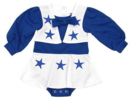 Dallas Cowboys Toddler One Piece Cheerleader Dress Uniform - Blue/White