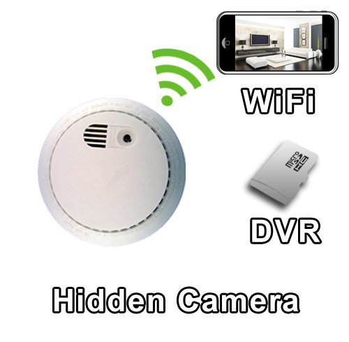 PalmVID WiFi PIR Smoke Detector Hidden Camera Spy Camera with Live Video Viewing by PalmVID (Image #1)