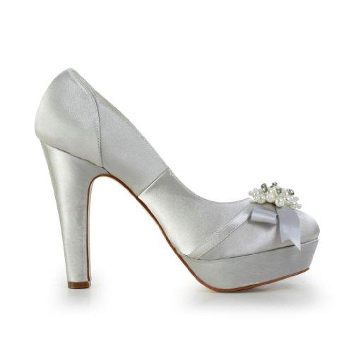 Silber 34862 Hochzeitsschuhe Jia Wedding Damen Pumps Brautschuhe Jia qz1R0pz