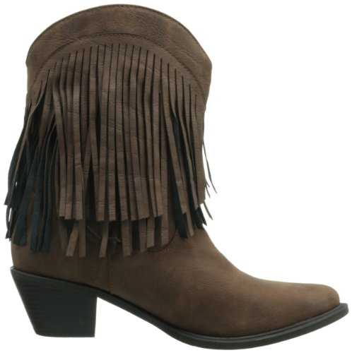 Shorty Fringe Women's Roper Boot Brown WwaYq5q7