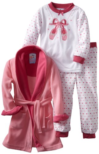 Baby Bunz Little Girls'  Ballet 3 Piece  Pajama Set