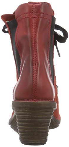 FLY London SUZU - Botas mujer Rojo (Red/red 004)