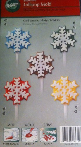 Wilton Snowflake Lollipop Mold 9 Cavity
