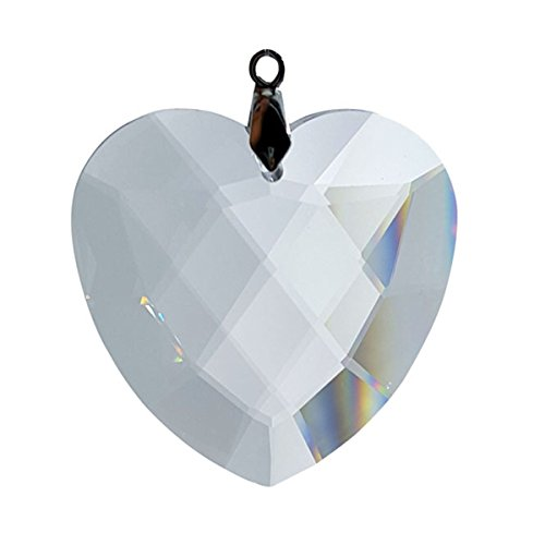 Heart Preciosa - Crystal Florida #7524-40, 40 MM Faceted Flat Full Lead Preciosa Heart Ornament